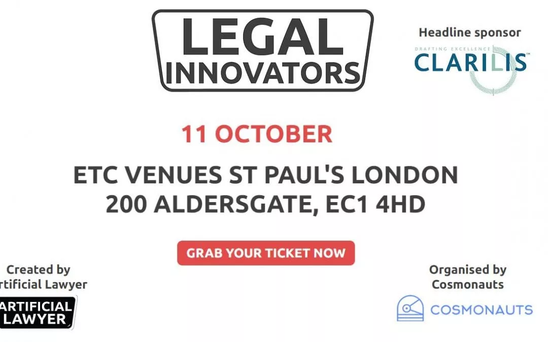Clarilis is headline sponsor at the 'Legal Innovators' Conference